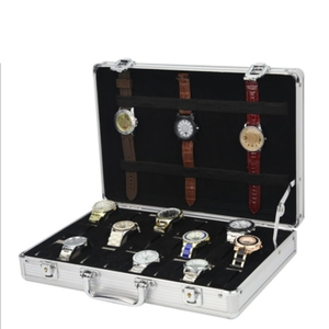 Image 5 - 24 그리드 알루미늄 가방 케이스 디스플레이 스토리지 박스 시계 스토리지 박스 케이스 시계 브래킷 시계 시계 시계 박스 프로모션
