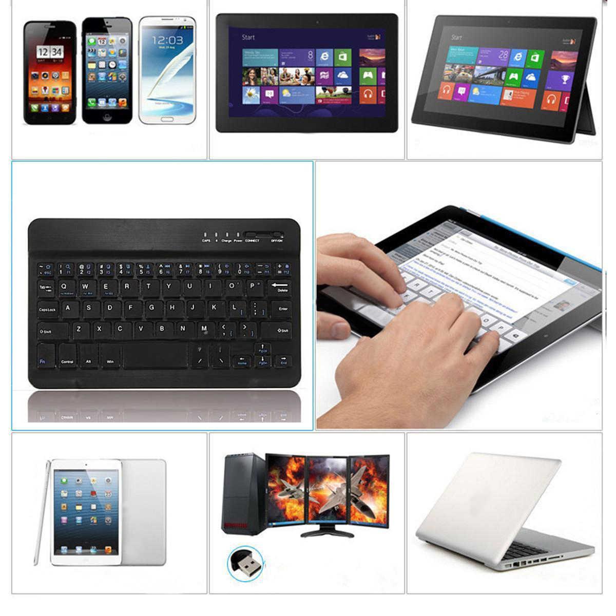 59 Tombol Logam Aluminium Wireless Bluetooth 3.0 Mini Keyboard untuk Mac IOS Android Windows PC Tablet Ponsel Pintar Notebook Desktop