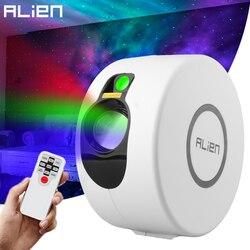 Лазерный проектор ALIEN Star Galaxy с дистанционным управлением, звездное небо, сценический эффект, для спальни, детской комнаты, вечеринки, праздн...