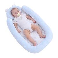 87*45*8cm Baby Infant Bett Nest Baby Krippen Tragbaren Neugeborenen Reise Sicheren Schlaf Pad Bett Baumwolle cradle Baby Bettwäsche Stoßstange Babybetten    -