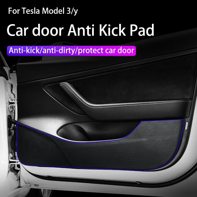 Модель 3/y двери автомобиля anti-kick pad Невидимый защитный анти-kick коврик для tesla модель 3/модель y аксессуары для автомобильного интерьера