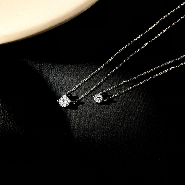 Trendy 925 Sterling Silver O-Chain Necklace 0.3cm/0.4cm/0.5cm Zircon Necklace For Women Gift Summer Fashion Jewelry NK033 3