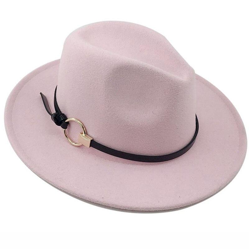 Fashion Wool Women Outback Fedora Hat for Spring Summer Autumn ElegantLady Floppy Cloche Wide Brim Jazz Caps