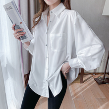 Elegant Blouse Clothing Women Shirts Korean Fashion Lazy-Oversize Pockets Streetwear