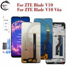 חדש LCD עבור ZTE להב V10 / V10 Vita LCD תצוגת מסך מגע פנל חיישן Digitizer עצרת החלפת V10vita תצוגה כלים