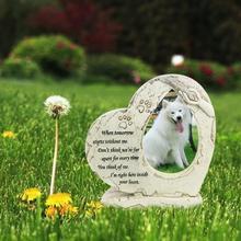Надгробная плита для домашних животных с фоторамкой, надгробная плита для собак, кошек, собак, надгробная плита для домашних животных, садовая надгробная плита, памятник для домашних животных на заднем дворе