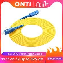 Cable de conexión ONTi SC UPC a SC fibra UPC, 1M, 3M, 5M, 10M, 20M, 30M, SX, 2,0mm, 3,0mm, FTTH, Cables de fibra SM, puente óptico, coleta