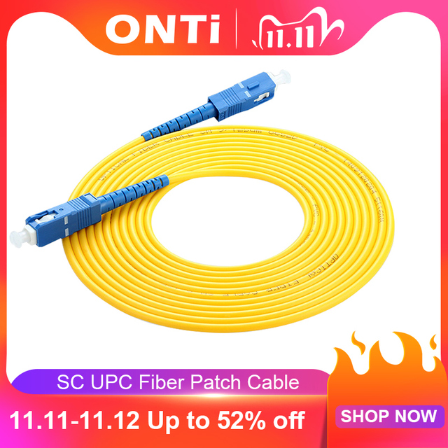 ONTi SC UPC TO SC UPC Fiber Patch Cable 1M 3M 5M 10M 20M 30M SX 2.0mm 3.0mm FTTH Fiber Patch Cables SM Optical Jumper Pigtail