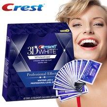 Crista 3d whitestrips efeitos profissionais dentes branqueamento oral b higiene dentes branqueamento tiras 20 bolsa/caixa ou 10 bolsa/nobox