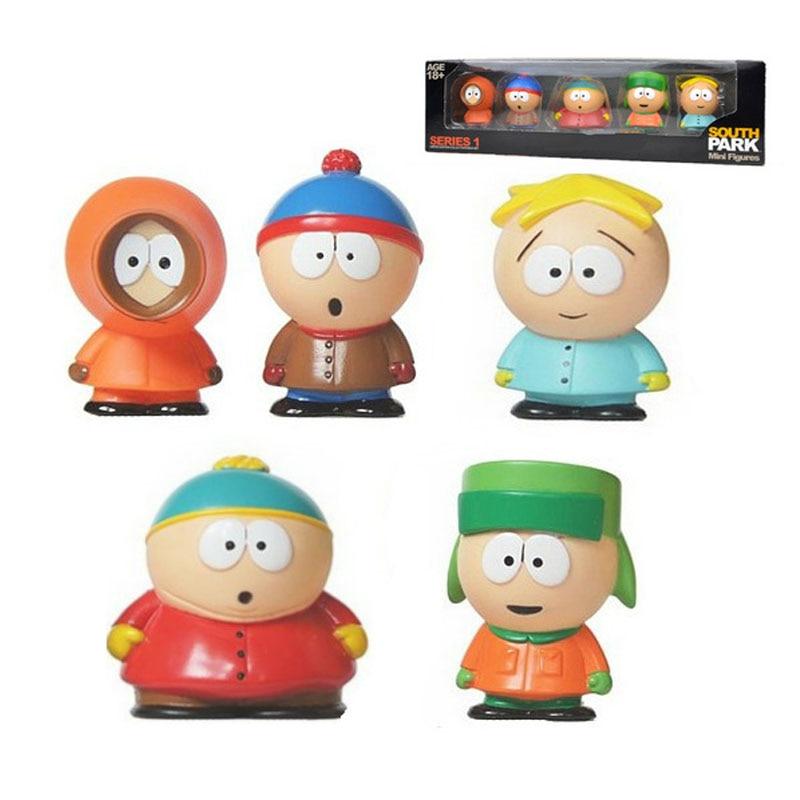 5pcs/set Southern Park Toy Creative Austral Park Doll Gift For Kids Home Decoration Moldel