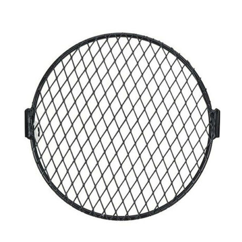 Universal 7'' Motorcycle Headlight Mesh Grill Mask Protector Guard Rhombus Cover Motorcycle Headlight Decoration