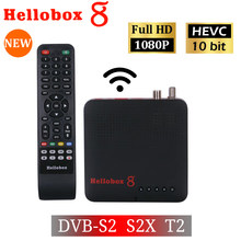 H265 TV Ontvanger Combo DVB T2 DVB S2 Hellobox 8 CCCamd Newcamd Set Top Box ondersteuning RJ45 WiFi HEVC PowerVu biss IPTV M3U TV Box(China)