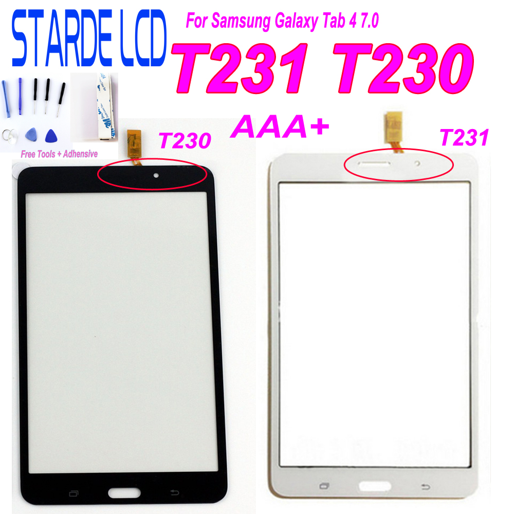 7'' For Samsung Galaxy Tab 4 7.0 T231 SM-T231 T235 T230 SM-T230 Touch Screen Digitizer Sensor Panel Tablet Replacement Parts