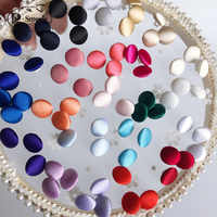 1Set (50PCS Buttons and 1Y Buttonhole) Colorful Colors Satin Cloth Button Buttonhole Wedding Dress Back Handmade Diy Accessories