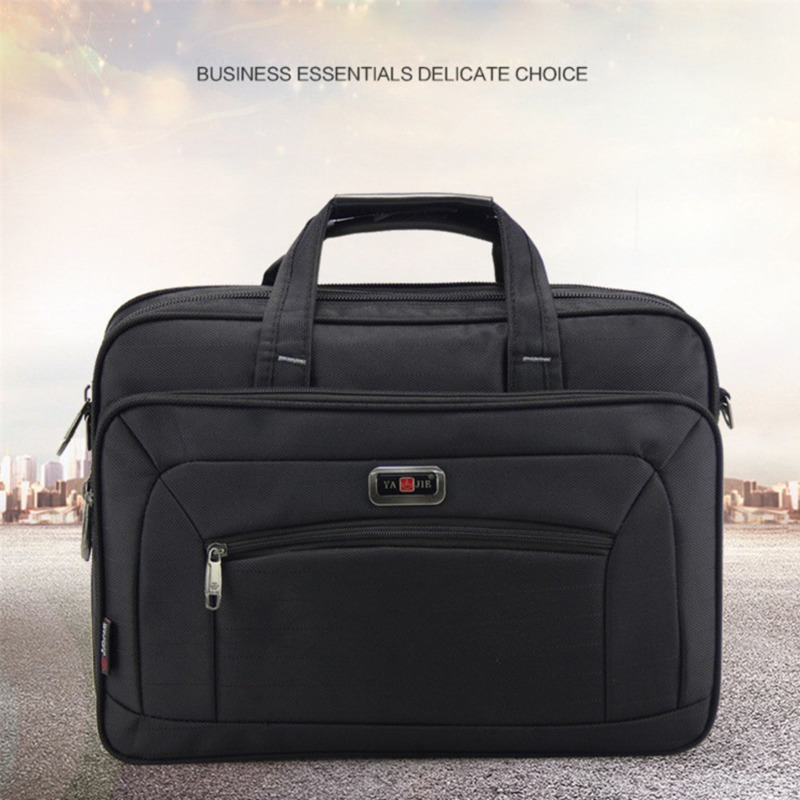 Quality Durable Oxford Men Briefcases Brand Men's Business Handbags Waterproof  15.6