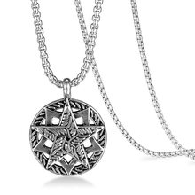 2019 Moana Kolye Necklace Male Euro-american Hee Stainless Steel Double-deck Pentagonal Pentagon Personal Happy New Accessories(China)