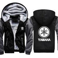 Hoodies Men Yamaha Car Logo Print Jacket Men Hoodies Casual Winter Thicken Warm Fleece cotton Zipper Raglan Coat Male Tracksuits