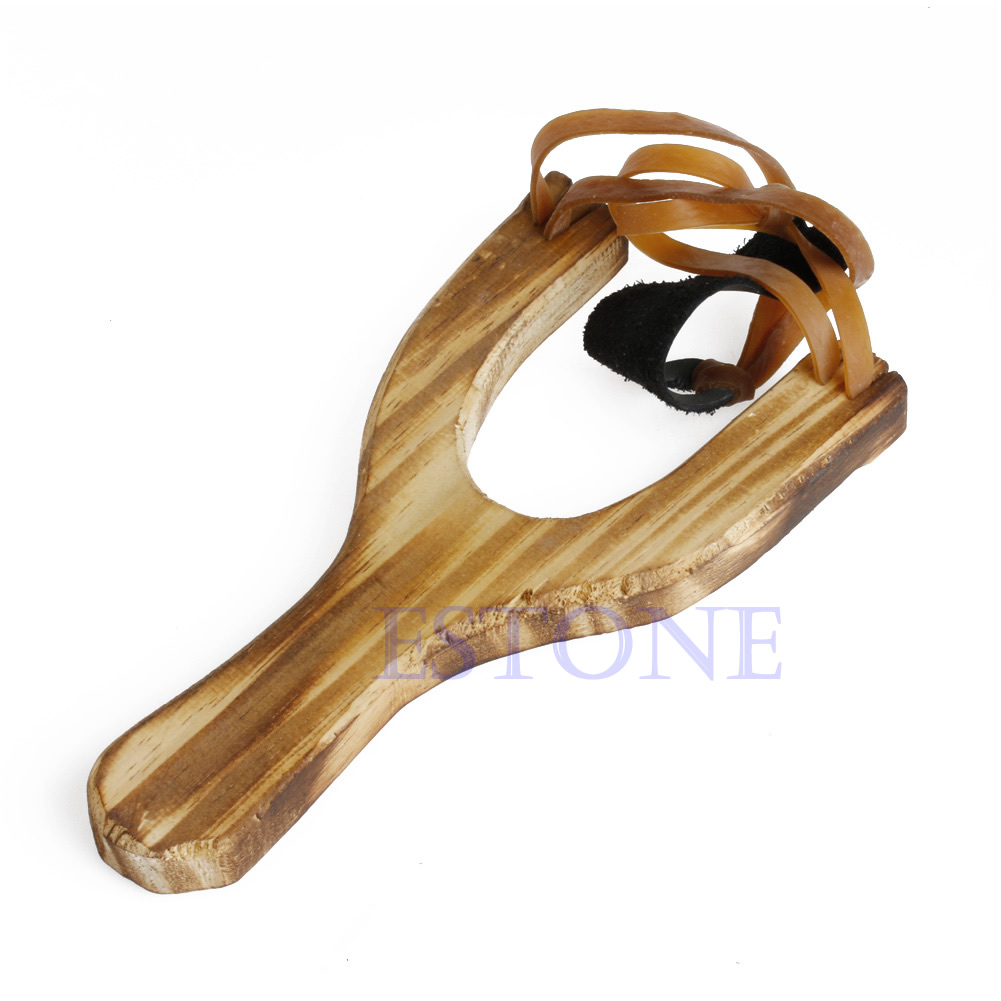 Hot Style Wood Slingshot Wooden Traditional Toy Wooden Sling Shot Q6PD