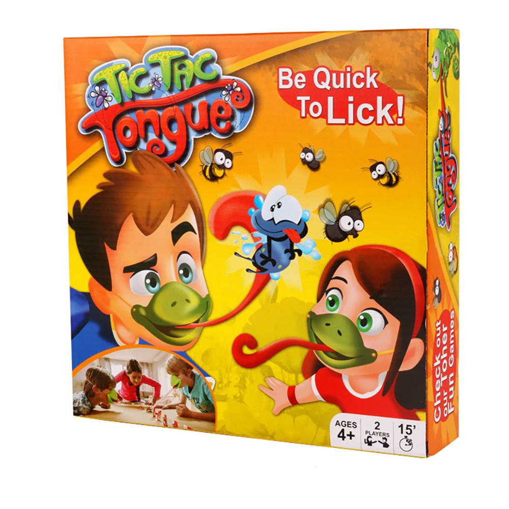 New Family Party Game Chameleon Frog Eating Mosquito Toy Binge Sticking Out Tongue (color Box)