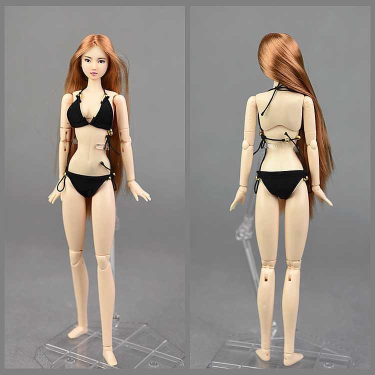 Underwear Set Putih & Hitam Bikini Pakaian Pakaian Set Pakaian untuk 1/6 BJD Xinyi Barbie Tentara FR Boneka