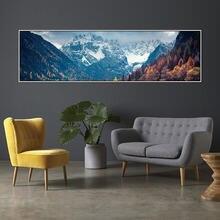 Картина на холсте плакаты эстетические горы водный пейзаж настенные