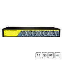 24Ports Gigabit Switch 1000Mbps POE Switch , Smart Desktop Network Power Over Ethernet InjectorExtend 250M ,2 Port Uplink 1 SFP