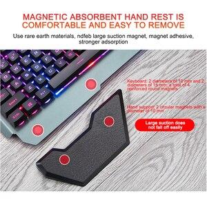 Image 4 - Gaming Keyboard Wired Ergonomic Keyboard With RGB Backlight Phone Holder Gamer Keyboard For Tablet Desktop For PUBG