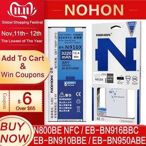 Image 1 - NOHON Batterie Für Samsung Galaxy Note 2 3 4 8 Note8 N9500 Note4 N9100 N910X Note3 NFC N9000 Note2 N7100 original Telefon Bateria