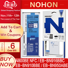 NOHON baterii do Samsung Galaxy Note 2 3 4 8 Note8 N9500 Note4 N9100 N910X Note3 NFC N9000 Note2 N7100 oryginalny telefon Bateria