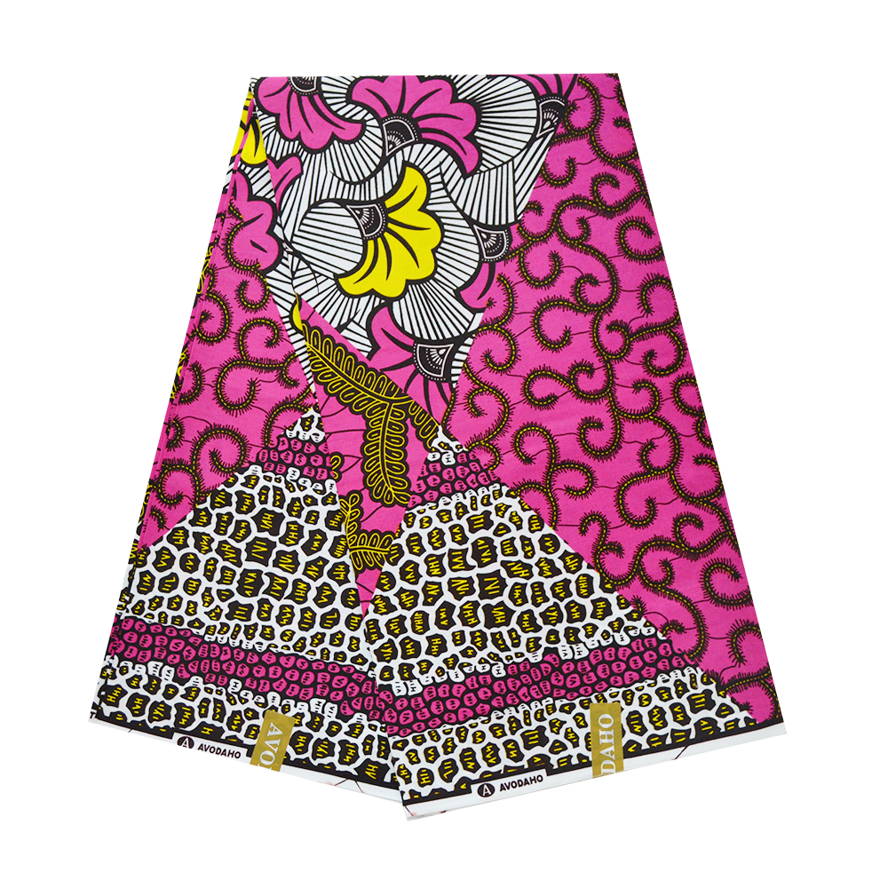 Real Wax 100% Cotton High Quality African Wax Fabrics For Sewing Veritable Block Print Nigerian Ankara Wax Material Tissue