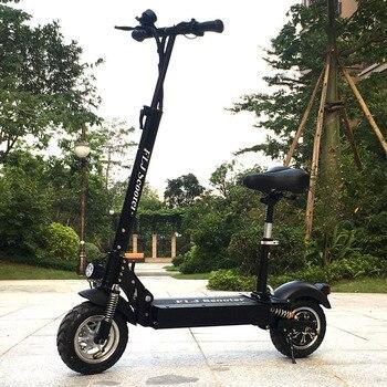 FLJ-patinete eléctrico con asiento para adulto, Scooter plegable de 48V/1200W/500W, de rueda...