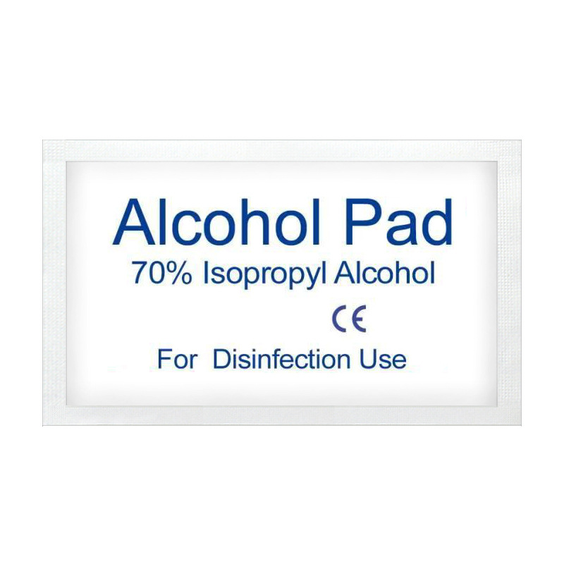 100pcs Single Use Alcohol Disinfection Pad Wet Paper With The Packing For Tableware Wound Sterilization Disposable Disinfect Pad
