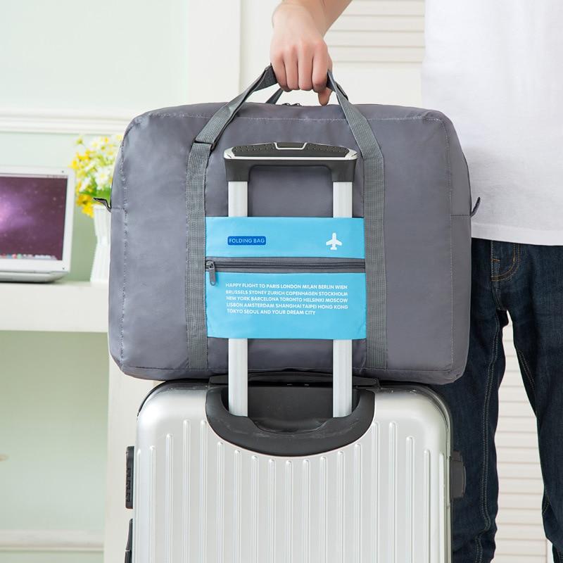 Foldable Travel Bag Storgage Bag Hand Nylon Waterproof Short Trip Travel Luggage Bar Airplane Travel Bag Small
