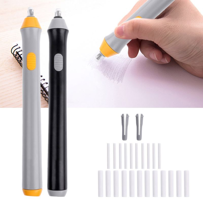 Electri Rubber Eraser Sketch Drawing Erasing Battery School Stationery Supplies  Whosale&Dropship