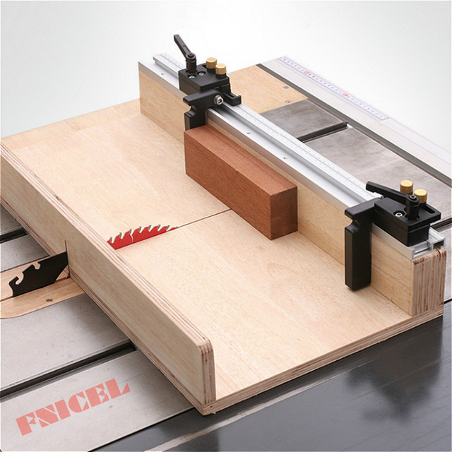 Voie en T de 45 types, avec échelle en alliage daluminium, fente de la voie en onglet, 300 à 800mm, établi pour scie de Table de bricolage, outils pour le travail du bois