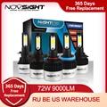 NIGHTEYE Super Helle Auto Scheinwerfer H7 LED H4 led H8/H9/H11 HB3/9005 HB4/9006 auto Birne 72W 9000LM Autos Scheinwerfer 6500K