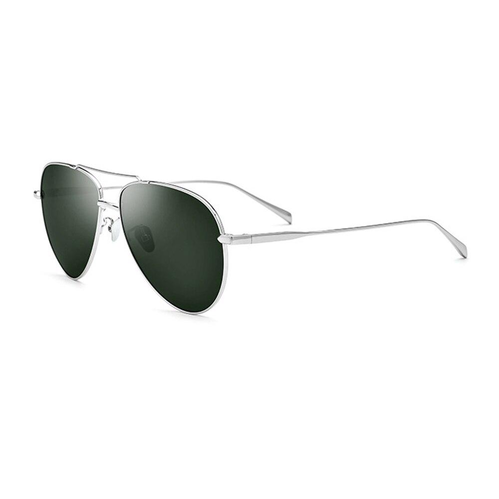 Titanium Alloy Men Polarized Sunglasses 3 Colors Black/Green/Blue UV400 Driving Glasses For Men With Box