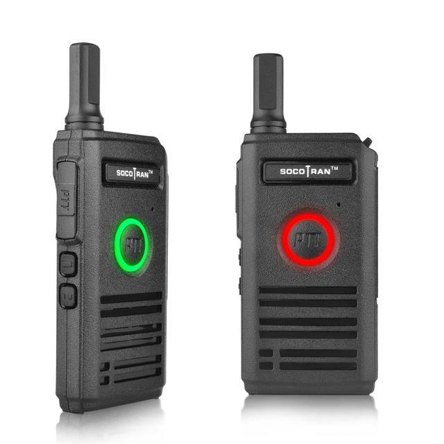 SOCOTRAN SC 600 UHF mini walkie talkie Amateur Radio 400 470MHz Ultra dünne zwei weg radio doppel PTT atmen licht