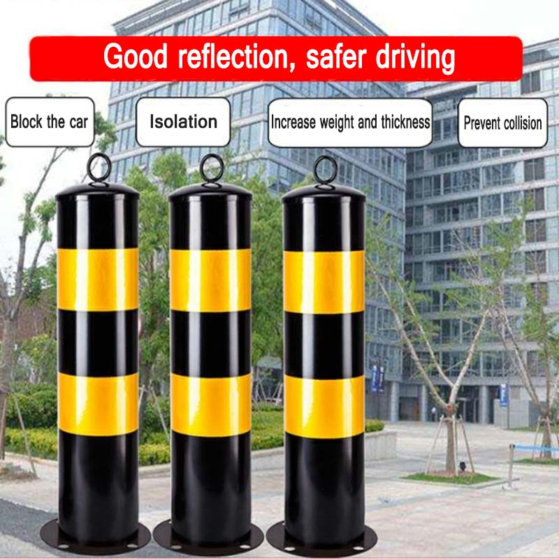 Steel Pipe Column Fixed Anti-collision Column Car Column Community Square Warning Column Thickened Protective Car Parking Space
