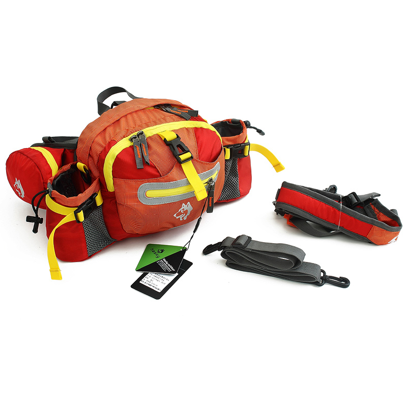 Waterproof Cycling Waist Bag Sports Shoulder Bags Hiking Mini Backpack Red