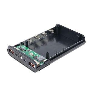Image 5 - Qc3.0 usb tipo c pd 4x18650 bateria diy caixa de banco de potência led luz carregador rápido