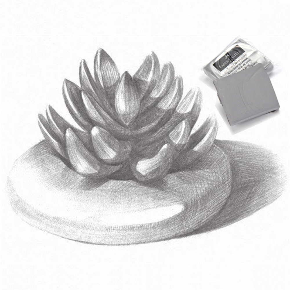 18pcs/box Grey Kneadable Eraser For Charcoal Pencils Drawing , Professional Sketch Kneadable Eraser For Sketching