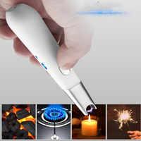 Encendedor de arco eléctrico de cocina USB recargable de largo encendedor de vela sin olor sin llama a prueba de viento encendedor USB