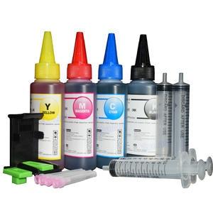 Refill-Kit Cartridge Printer Ink HP141 HP300 4x100ml HP122 for XL Hp140/Hp141/Hp300 302/Xl/Hp121/..
