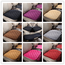 Fabric Car Seat Cover Four Seasons Front Rear Flax Cushion Breathable Protector Mat Pad Aut