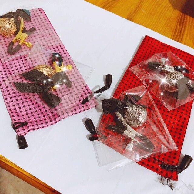 1 par ajustable adulto juegos abrazaderas de pezón clítoris abrazadera Productos eróticos juguetes sexuales para parejas fetiche de Clips para labios regalo de amante