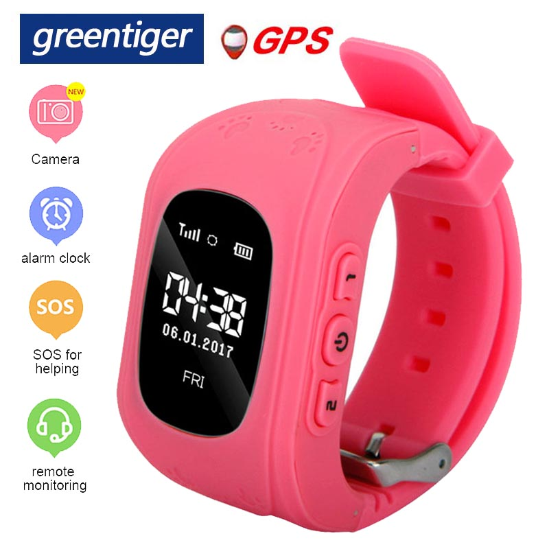 Greentiger Q50 Smart Watch Kid Anti Lost GPS Smart Wristband Pedometer SOS Call Location Tracker Monitor Baby Watch Vs Q90-in Smart Watches from Consumer Electronics on AliExpress