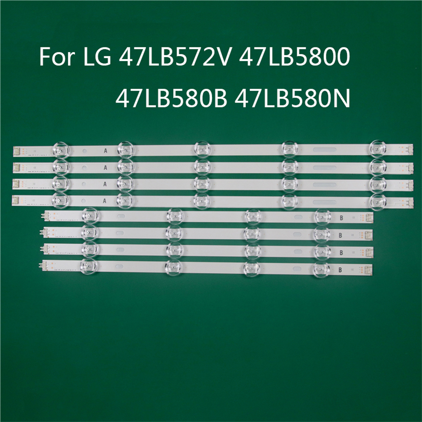 LED TV Illumination Part Replacement For LG 47LB572V 47LB5800 47LB580B 47LB580N LED Bar Backlight Strip Line Ruler DRT3.0 47 A B