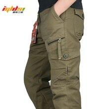 חדש 2020 גברים מכנסיים מטען רב כיסים צבאי טקטי מכנסיים גברים להאריך ימים יותר Streetwear צבא ישר מכנסיים מקרית ארוך מכנסיים