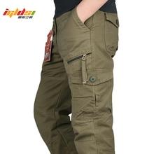 Calças cargo masculinas, várias bolsos, táticas militares, streetwear, exército, retas longas, casual 2020